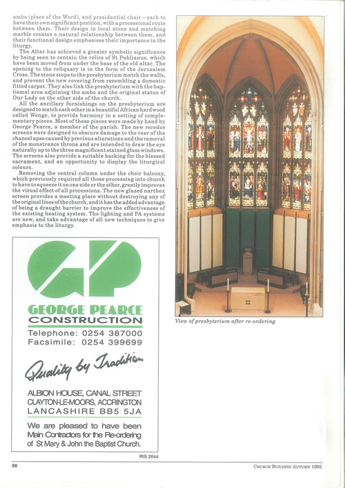 Pleasington Priory rennovation project by George Pearce Construction Blackburn Lancashire